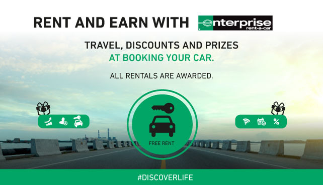 Reserve your car, choose your protection and prepay online to earn incredible prizes from category upgrades to your <b>rent completely free.</b>